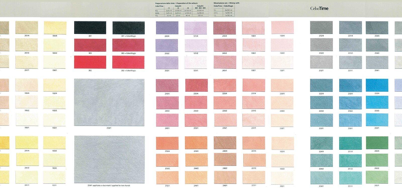 Catalogo Colori Per Pareti cebotime - cebos color